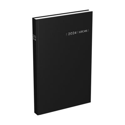 Agenda carré travers Lecas - 1 jour par page - 14 x 22 cm - noir (photo)