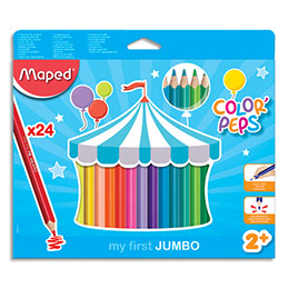 Crayons de couleur Maped Jumbo Early Age - pochette de 24 (photo)