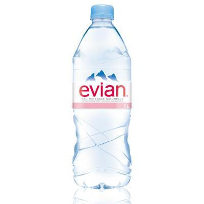 Bouteille d'eau minérale Evian - 1 L (photo)