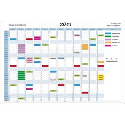 Planning magnétique annuel Exacompta - 90 x 59 cm - avec accessoires (photo)
