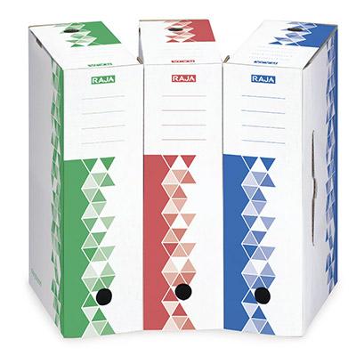 Boîte archives premium Raja - dos 8 cm - vert