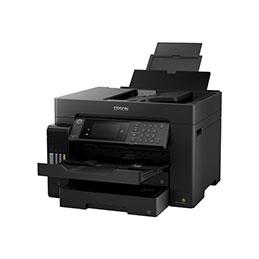 Epson EcoTank ET-16650 - Imprimante multifonctions - couleur - jet d'encre - A3 plus (311 x 457 mm) (original) - A3 (support) - jusqu'à 25 ppm (impression) - 550 feuilles - 33.6 Kbits/s - USB 2.0, LAN, hôte USB, Wi-Fi - noir