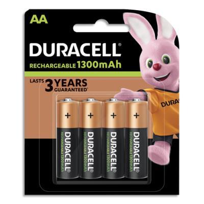 Piles rechargeables AA/ HR6 Duracell - blister de 4
