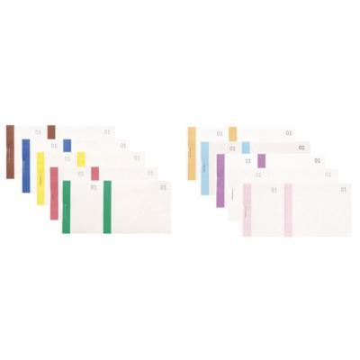 Bloc vendeur Elve - 100 feuillets numérotés 6 x 13,5 cm - 1 coupon détachable - coloris assortis