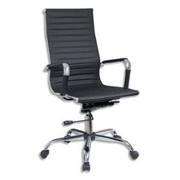 fauteuil corus noir assise et dossier en simili cuir m canisme basculant d centr. Black Bedroom Furniture Sets. Home Design Ideas