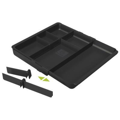 Organisateur pour tiroir Exacompta Drawinsert - compartiments amovibles - noir (photo)