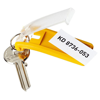 Sachet de 6 porte-clés KEY CLIP - coloris assortis (photo)