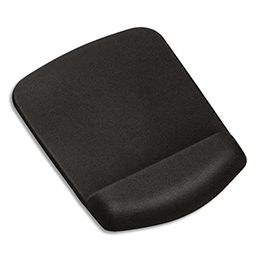 Tapis de souris repose-poignets Fellowes PlushTouch - noir (photo)