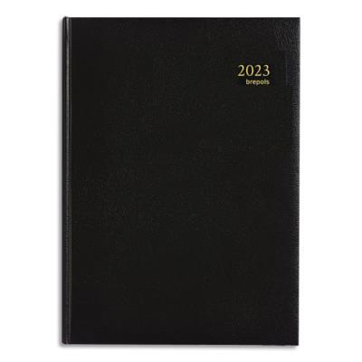 Agenda 2019 semainier Brepols Omega 30 - 21 x 29 cm - noir (photo)