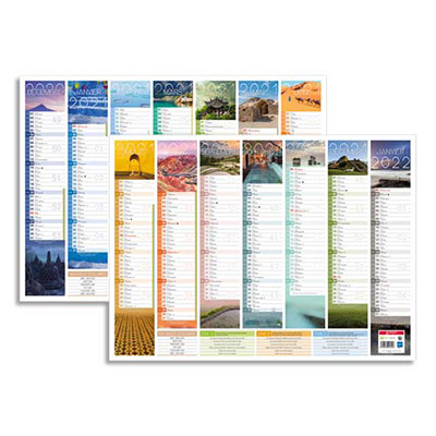 Calendrier Bancolor 2020 - 7 mois par face - 40,5 x 55 cm (photo)