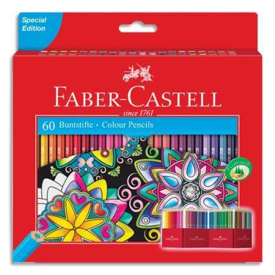 Crayons de couleur Faber Castell château - étui de 60 (photo)
