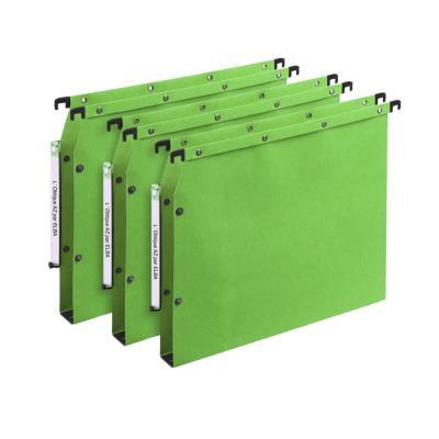 Dossiers suspendus AZV en carte Canson vert - pour armoire - fond 30 mm