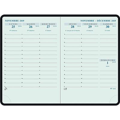 Agenda de poche Exacompta Horizon 15 - 10,5 x 15,5 cm - noir - 2021 (photo)
