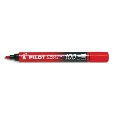 Marqueur permanent Pilot Marker 100 - pointe conique fine - rouge