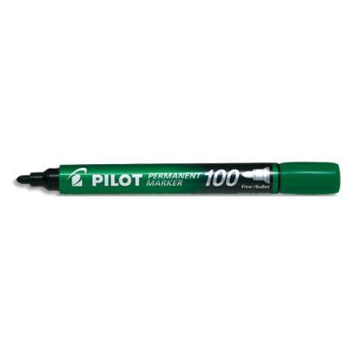 Marqueur permanent Pilot Marker 100 - pointe conique fine - vert