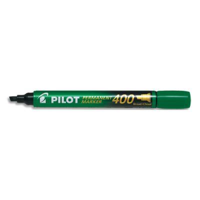 Marqueur permanent Pilot Market 400 - pointe biseautée large - vert