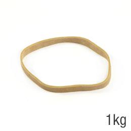 Elastiques - sac de 1kg de caoutchouc blond - format : 110x8mm