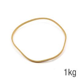 Elastiques - sac de 1kg de caoutchouc blond - format : 100x1.8mm