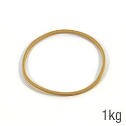 Elastiques - sac de 1kg de caoutchouc blond - format : 80x1.8mm