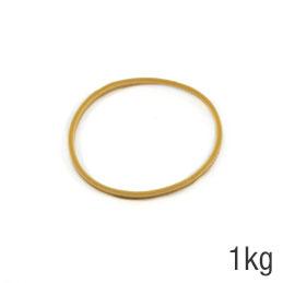 Elastiques - sac de 1kg de caoutchouc blond - format : 60x1.8mm
