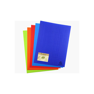 Protége-documents Exacompta Forever en polypropylène recyclé -  60 vues/30 pochettes A4 - coloris assortis