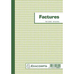 Bloc factures Exacompta - 21 x 14,8 cm - 50 feuilles (photo)