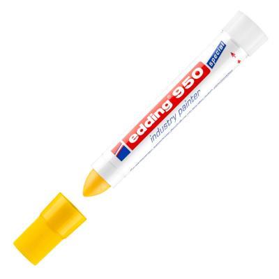 Marqueur peinture pour l'industrie 950 à pointe ogive 10 mm jaune