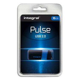 Clé USB 2.0 Integral Pulse - 16 Go - bleue (photo)