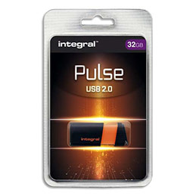 Clé USB 2.0 Integral Pulse - 32 Go - orange (photo)