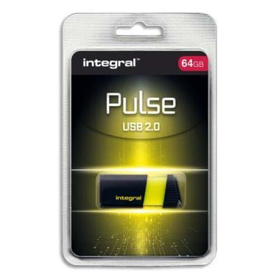 Clé USB 2.0 Integral Pulse - 64 Go - jaune (photo)