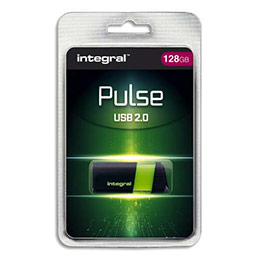 Clé USB 2.0 Integral Pulse - 128 Go - verte (photo)