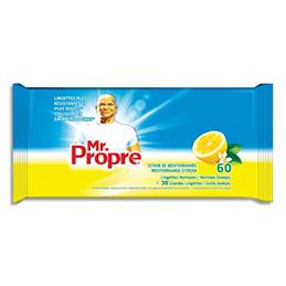 Lingettes nettoyantes Mr Propre - parfum Citron de méditerranée - paquet de 60 (photo)