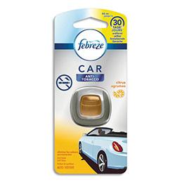 Diffuseur antitabac pour voiture Febreze - à clipper - jusqu'à 30 jours - parfum agrumes - 2 ml (photo)
