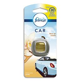 Diffuseur pour voiture Febreze - à clipper - jusqu'à 30 jours - parfum fleur de vanille - 2 ml (photo)