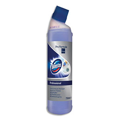 Nettoyant détratrant WC Domestos - légèrement parfumé - odeur de frais - flacon de 750 ml (photo)
