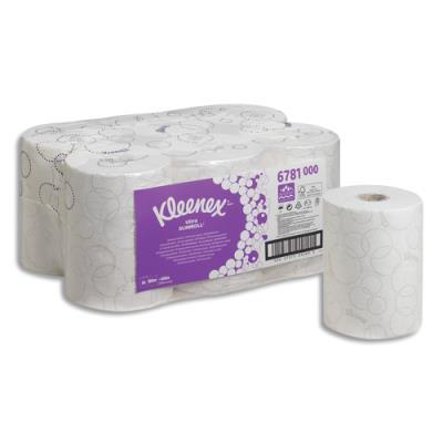 Essuie-mains Kleenex Slimroll 2 plis pour Aquarius blanc - L100 m, H19,8 cm D14,5 cm - lot de 6 bobines (photo)