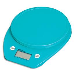 Pèse-lettre Maul goal à piles - plastique - portée 5 kg - Plateau D15 cm - L16 x H3 x P20 cm - bleu (photo)