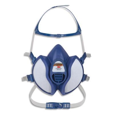 Masque coque 3M 4251+ gaz et vapeurs - jeu de brides et harnais - soupape parabolique