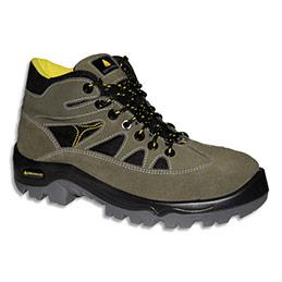 Chaussures hautes Delta Plus Auribeau - croûte velours et mesh - pointure 44 - vert/noir (photo)