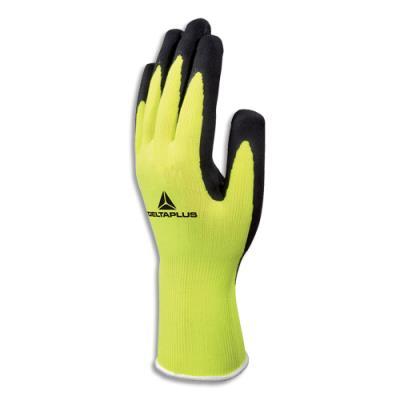 Paire de gants Delta Plus Apollon - en polyester - enduction latex naturel - taille 10 - jaune fluo/noir