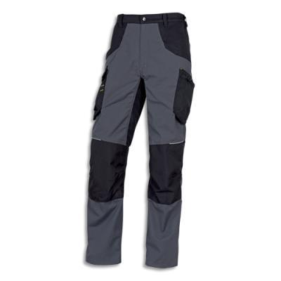 Pantalon Delta Plus Mach spirit - en coton et polyester - 8 poches - fermeture zip - taille L - gris/noir