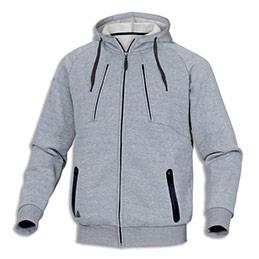 Veste sweat à capuche Delta Plus Anzio Gris - en polyester et coton - 4 poches - fermeture zip - taille S
