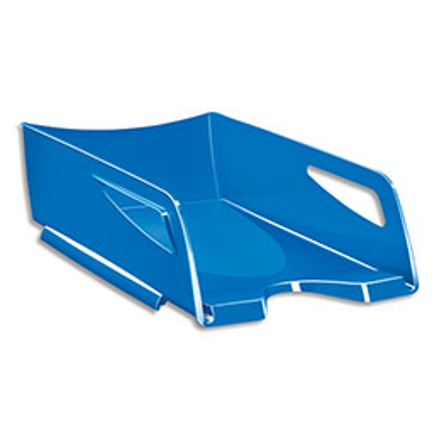 Corbeille à courrier CEP Maxi Gloss - 24 x 32 cm - L38,6 x H11,5 x P27 cm - bleu océan (photo)
