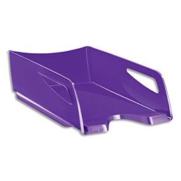 Corbeille à courrier CEP Maxi Gloss - 24 x 32 cm - L38,6 x H11,5 x P27 cm - violet (photo)