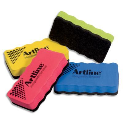 Brosse magnétique Artline pour tableau blanc - non rechargeable - 4 coloris assortis aléatoires (photo)