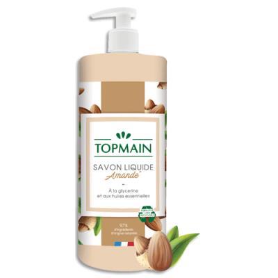 Savon liquide doux aux huiles essentielles - pour mains et corps - parfum amandes - flacon de 500 ml (photo)