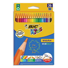 Etui carton 36 crayons de couleur Bic Evolution - coloris assortis (photo)
