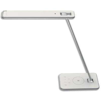 Lampe Led Unilux Jazz - interrupteur tactile - port USB - chargeur - tête 35xH47 cm, socle 12x20 cm - blanche