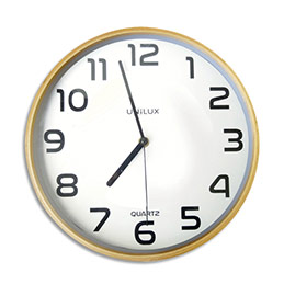 Horloge Unilux Baltic - cadran plastique - mécanisme à quartz - D30,5 cm - bois hêtre (photo)