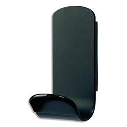 Patère magnétique simple Unilux Steely - en acier - charge supportée 50 kg - L6,8 x H14,8 x P7,6 cm - noire (photo)
